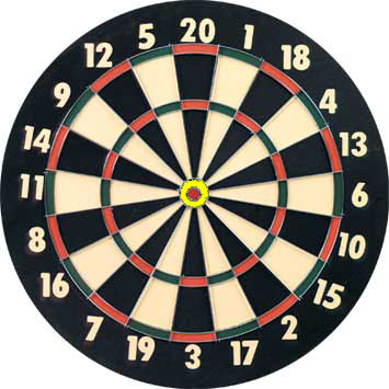 Outer bull on dart board