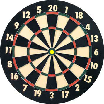 Inner bull on dart board