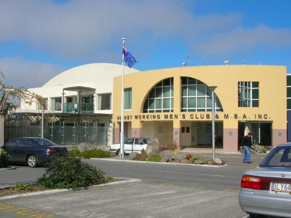 Front View of the Hornby Club in Christchurch